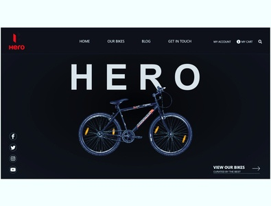 UI Landing Page of Online Cycle Store design landingpage website design web design ui  ux landing page webdesign uiux ui design ui