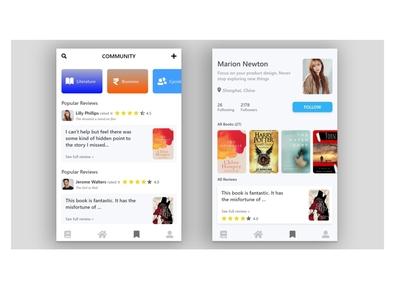 Profile Community App Ui app design design app ui  ux uiux ui design ui