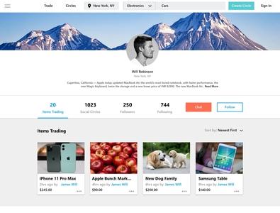 Social Profile Web Ui Design website website design web design landing page webdesign design ui  ux uiux ui design ui