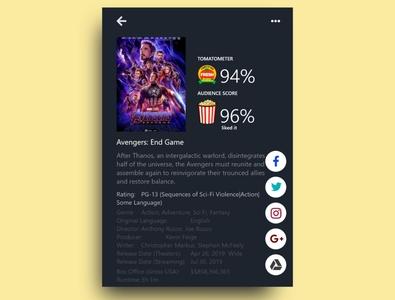 Social Share Movie App Ui Design adobe xd adobexd app design app design ui  ux uiux ui design ui