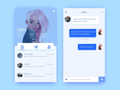 Message App Ui Design branding illustration adobe xd app design app design ui  ux uiux ui design ui