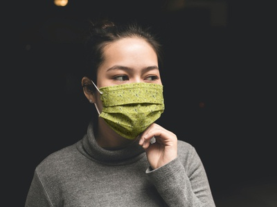 Woman With Facemask Mockup [Free PSD] mockups mockup psd mock-up mockup mask mockup free psd free mockup free face mask mockup free download freebie