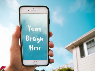 iPhone in the Hand of a Guy in a Hammock [PSD Mockup] mockup psd mock-up free mockup free download freebie summer mockup free mockup iphone hand holding hand free psd apple 8 plus 7 plus