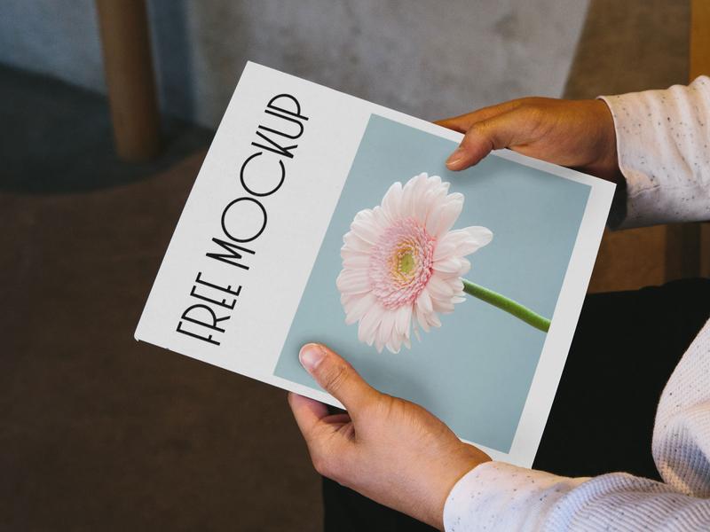 Free Magazine in Hands PSD Mockup mockups mockup psd mock-up free psd free mockup free download freebie psd mockup magazine free cover brochure