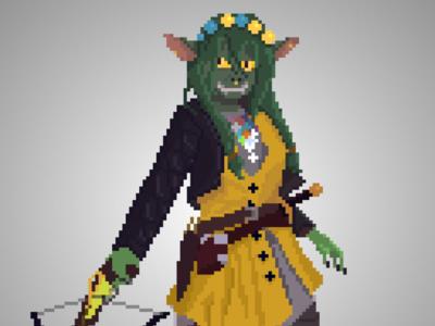 Nott the Brave - Critical Role criticalrole fanart characterdesign dnd pixelart pixel