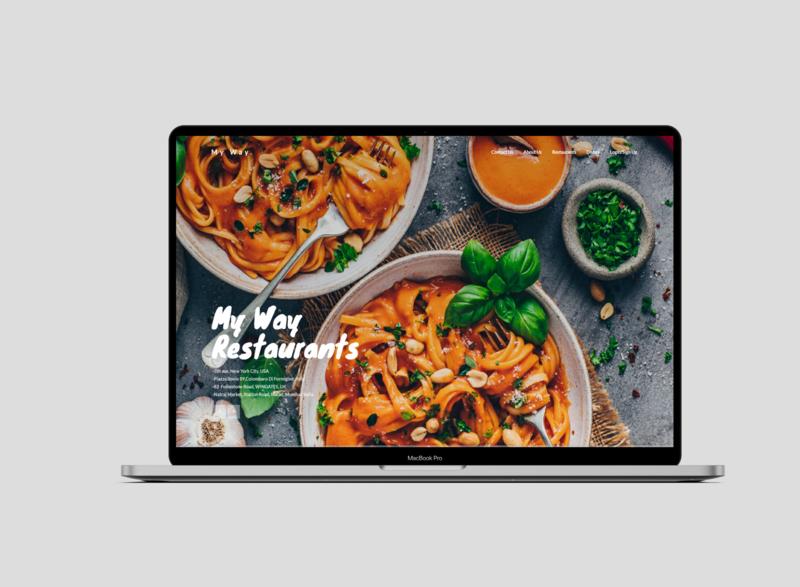 Restaurant Website UI restaurant branding restaurant app photoshop psd design psd psd mockup mockups mockup website typography ux uxdesign ui ui design interaction design design uiux ui  ux design branding