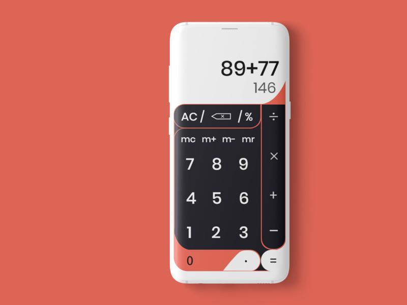 Calculator UI Design ui ux uxdesign adobe xd logo mockup interaction design ui  ux design uiux illustration ui design design branding