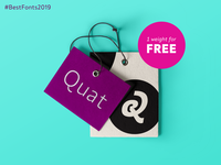 Quat is among Fontspring's Best Fonts of 2019 free font poster webfonts webdesig webfont fonts font font awesome кириллица cyrillic typeface branding and identity brand design branding typography design typographic typography bestfont bestfonts2019
