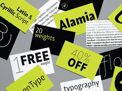 🔥 Alamia 🔥 -40% OFF free layout layoutdesign webfont webdesign graphicdesign typography art typography typographic brand identity brand design branding typeface sans sanserif font family кириллица cyrillic fonts font design