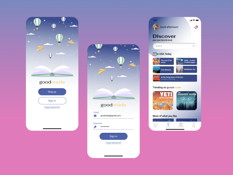 Simplified app for books home screen login screen ios app design mobile design mobile app app design mobile app design ux design