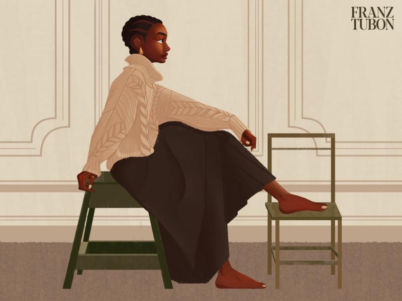 Genevieve clip studio paint digital illustration digital artwork illustration