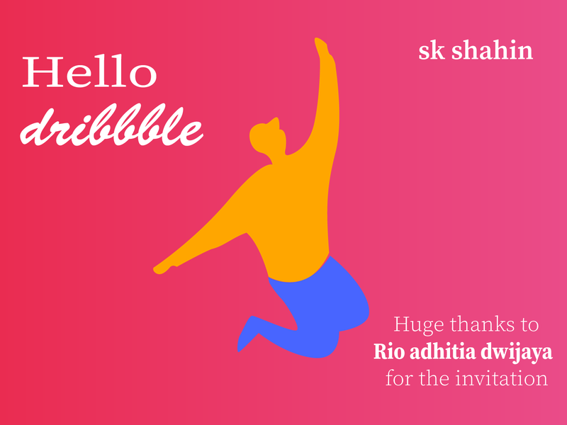 hello dribbble minimal icon unique logo illustrator vector design illustration