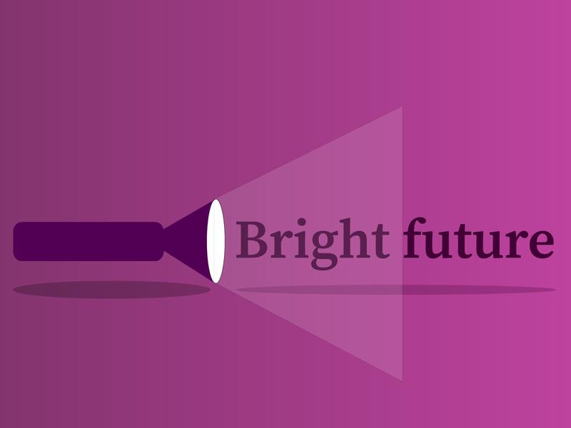 bright future art illustrator vector design crative illustration