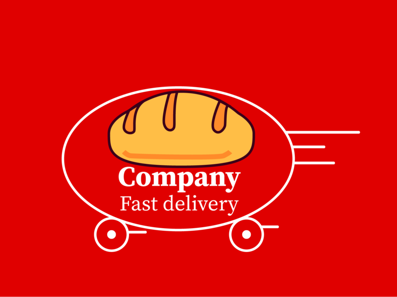 delivery minimal art illustrator icon logo vector unique logo crative design illustration