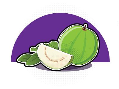 Guava guava vector minimal illustration flat