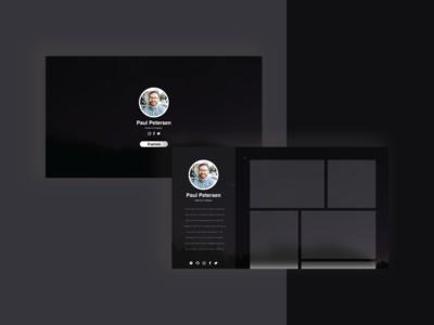 Designer Portfolio socialmedia black glassy portfolio illustration interface design web ui
