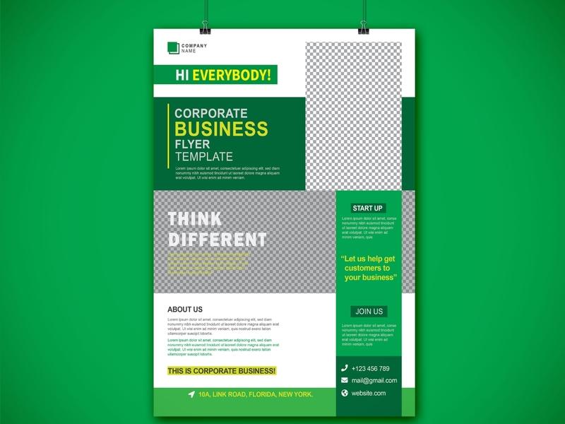 Clean Corporate Business Flyer Design Template shopify sale marketing fashion design fashion facebook designs design branding add
