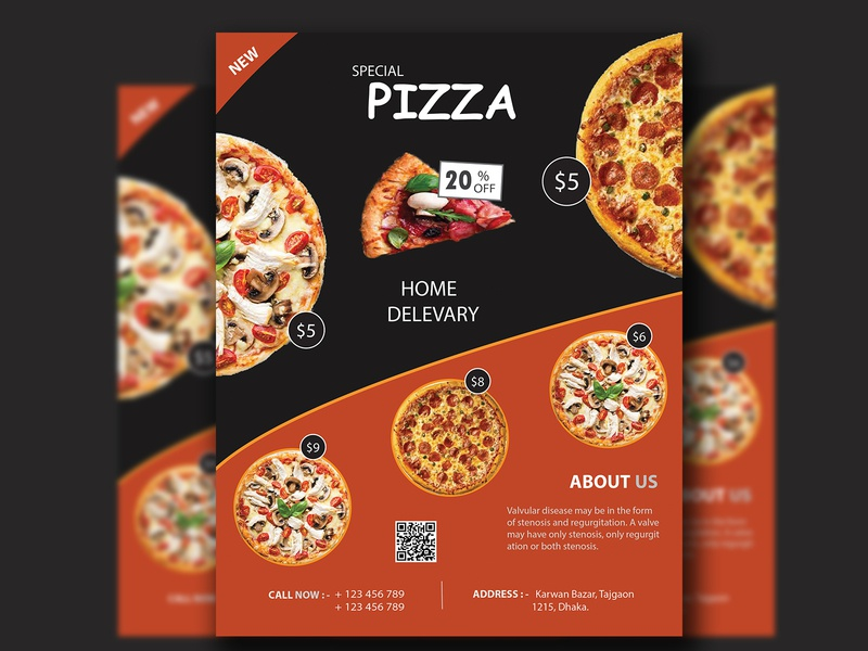 Pizza Delivery Print Ready Flyer Template sale pizza flyer pizza offers menu flyer menu italian pizza italian food food fast food discount delivery delicious cafe flyer cafe food and drink home delivery fastfood marketing