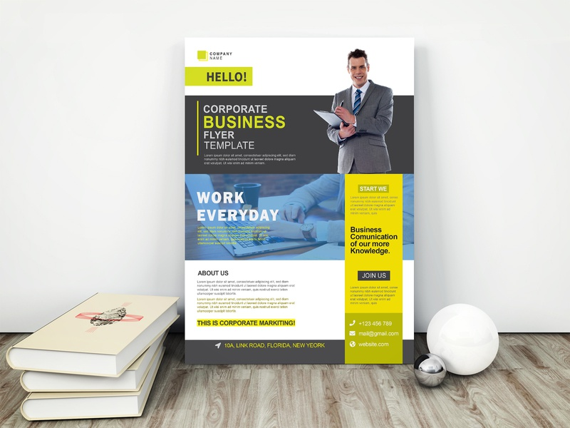 Corporate Business flyer Template company sale advertisement a4 flyer leaflet creative modern promotion branding clean business marketing corporate flyer
