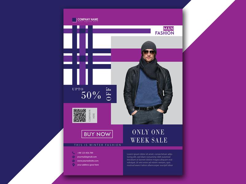 Man Fashion Sale Flyer Design fashion sale fashion brand man fashion vector modern designs fashion design a4 flyer shopify fashion minimal branding sale marketing