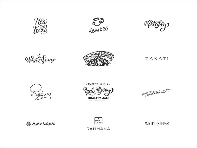 Motizzy's 2015 logos  hand lettering logo lettering logos hand lettered logo design