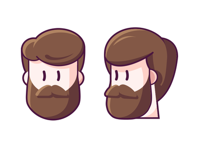 Myskillcamp #2 expression visage brun hair brown personnage face caracter beard