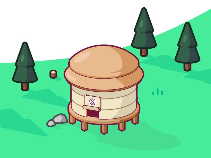 MySkillCamp #11 mobile home nomadic wood forest camp yurt lodge