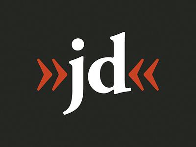 »jd« powered Logo logo garamond
