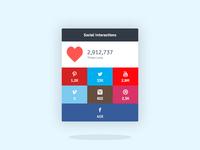 Flat Social Widget