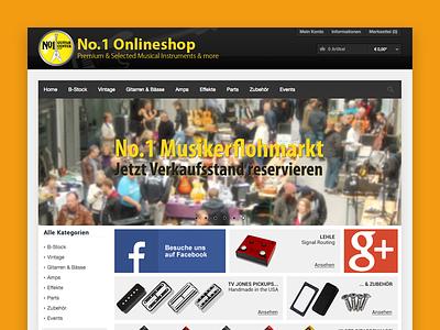 No.1 Guitar Center - online shopping website shopware flat online shopping ecommerce