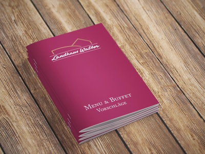 Menu & Buffet Booklet bordeaux caslon booklet menu buffet restaurant