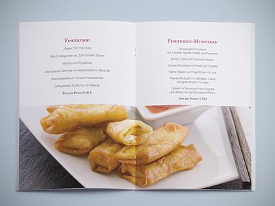 Menu & Buffet Booklet – Fingerfood booklet bordeaux fingerfood menu buffet caslon helvetica neue