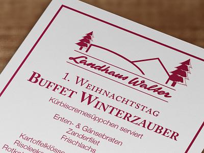 Christmas Menu caslon helvetica neue christmas menu flyer print card
