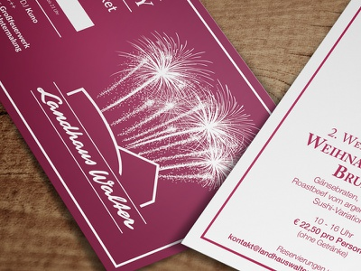 Christmas Menu + New Year's Eve Party Ticket christmas menu new years eve ticket flyer restaurant