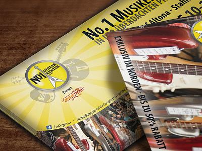 Musicians Flea Market Flyer flyer print guitar music flea market