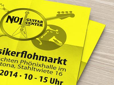 Musicians Flea Market Poster poster print guitar music flea market