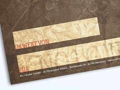 Guitar Store Gift Coupon store coupon guitar flyer print
