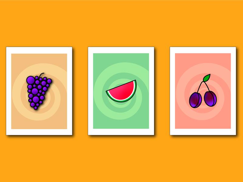 Fruit Cards cards game design game fruit illustration fruit design illustrator vector