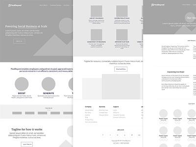 Wireframe for the new website wordpress web ui minimal clean greyscale wireframe web design website