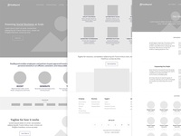 Wireframe for the new website