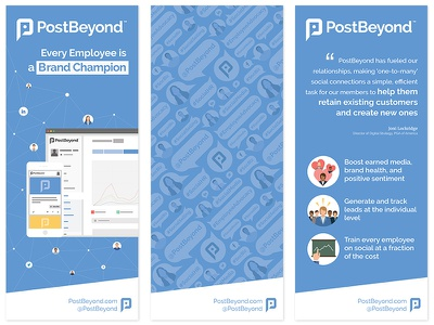 Conference Banner Design postbeyond clean flat blue pattern graphic design banner conference