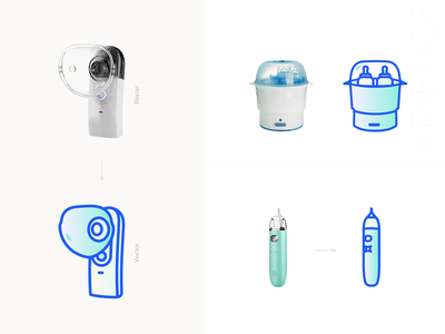Newborn Icons Set Design lined icon bottle sterilizer breast pump nasal aspirators web design raster to vector newborns icons set graphic symbol icons designer flat icons vector icons 2d icons design icons icon icons set icons design