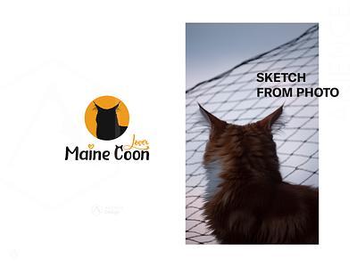 Cat logo vector logo with cat logo design cat silhouette
