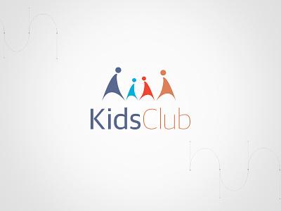 Logo 'Kids Club' sport summer camp childhood colored logo logotype children kids club kids logo logo design design logo