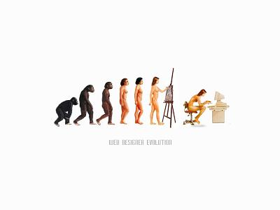 Web Designer Evolution :) technology painting darwin primitive women designer computer science web design evolution