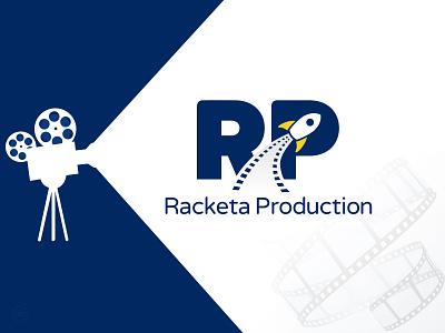 Racketa Production logo film racketa logo design logo inspiration movie film production rocket