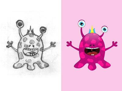 My Cute Monster vector monster pink monster t-shirt design cute monster monster emoji logotype logo