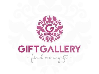 'Gift Gallery' Logo Design logo inspiration elegant logo draw pink find me a gift vintage logo logotype logo design logo gift gallery gift logo gift