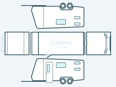 RVs from all angles view, sketches from photos cars icon camper trailer caravan motorhome campervan vector outlines sketch rv