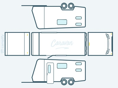 RVs from all angles view, sketches from photos